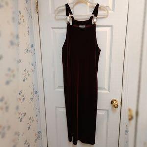 Vintage Carol Anderson Petites Velour Romper dress